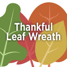 thanksgiving day activity thankful leaf wreath la academy