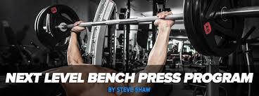 Raw Bench Press Program Level 5x5 Bench Press Program Using Auto Regulated Progression