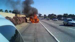 car fire on the northbound 5 freeway in san clemente on 3 3 12