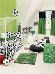 Blue Football Themed Bedroom By Catherine Lansfield Includes - Football bedroom ideas