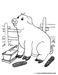 pig coloring page create a printout or activity
