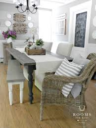 easy and budget friendly dining room makeover ideas runners farmhouse dining room woodsmoke by glidden