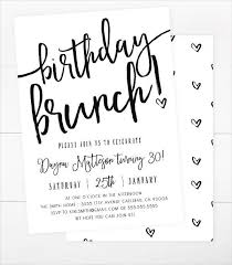 brunch invitations templates birthday invitation templates birthday brunch invitations