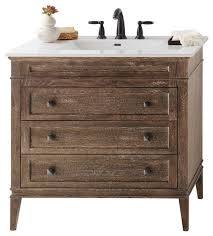 Ronbow Laurel Solid Wood  Vanity Cabinet Base Vintage Honey - Bathroom wood vanities solid wood