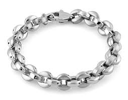 stainless link bracelet images Stainless steel round link bracelet for sale steel bracelet for sale png