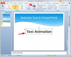 how to animate text in powerpoint slide powerpoint templates