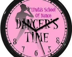 pink wall clock etsy