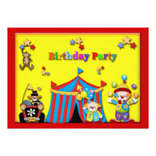 clowns for birthday circus clown party birthday invitations announcements zazzle