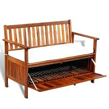 outdoor wicker bench seat with storage diy garden bench seat with