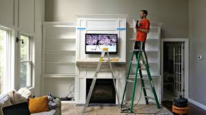 Built In Bookshelves Around Fireplace by Living Room Built Ins