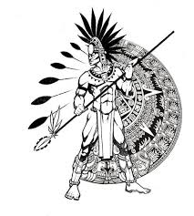 aztec warrior clipart cuauhtemoc pencil and in color aztec