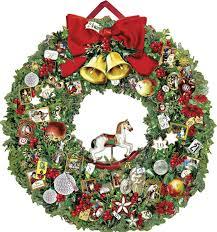 victorian christmas wreath large luxury advent calendar calendar