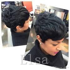 gray hair pieces for american lace front human hair wigs cheap pixie cut short glueless wig with