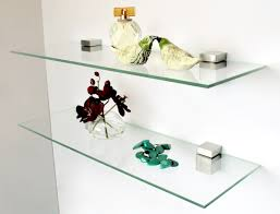 Brackets For Glass Shelves by Home Design Floating Glass Shelves Brackets Mediterranean Medium
