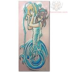 girly aquarius tattoo design for girls real photo pictures