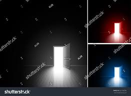 open door room bright light stock vector 551795350