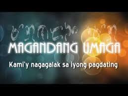 welcome tagalog