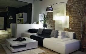 living room designs for small spaces with dark brown couch and