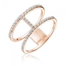 linked wedding rings 2 row linked diamond 14k gold fashion ring