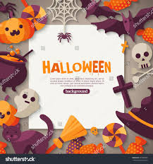 cartoon halloween background halloween background vector illustration flat halloween stock