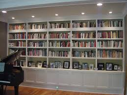 Ceiling To Floor Bookshelves Interior Beige Modern Stained Solid Wood Floating Book Shelf Grey