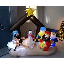 Outdoor Christmas Decorations Nativity by Inflatable Christmas Decoration Nativity Scene Xmas Outdoor Indoor