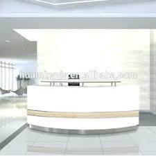 Salon Reception Desk White Salon Reception Furniture Large Curved Reception Desk