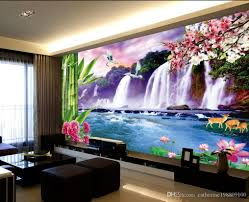 fresh large waterfall tv wall mural 3d wallpaper 3d wall papers see larger image