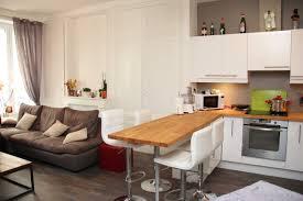 appartement cuisine americaine étourdissant idee cuisine americaine appartement avec ouverte salon
