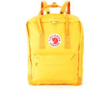 warm yellow fjallraven kanken backpack warm yellow womens accessories