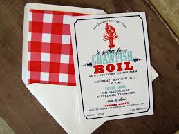 personalized crawfish trays crawfish boil invite paper styling crab boil