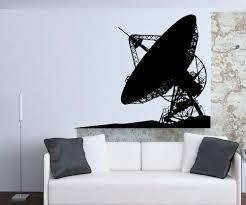 vinyl wall decal sticker satellite dish 5498