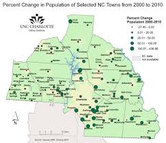 Map Of Charlotte Census 2010 Cities And Towns In The Charlotte Region Unc
