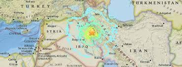 map iran iraq dangerous m7 3 earthquake hits iran iraq border region 530