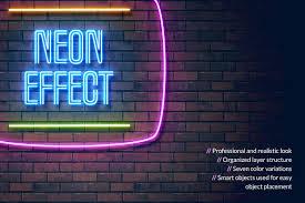 Light Words Neon Light Effect Graphics Creative Market