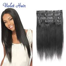 clip on extensions american clip in human hair extensions 8a 8pcs clip in