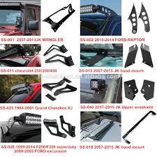 jeep jk led light bar 50 u0027 u0027 led light bar mount upper windshield jeep jk wrangler bracket