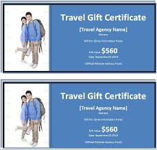 travel gift certificates ms word travel gift certificate template word excel templates