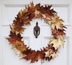 autumn wreath metal leaf autumn wreath so that s cool