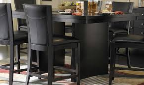 black counter height table set black bar height dining set he table with latest decorations