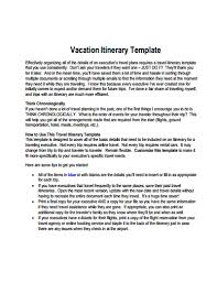 vacation itinerary template free download create edit fill and