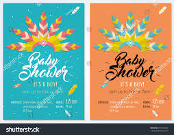 Invitation Card For Baby Baby Shower Set Cute Invitation Cards Stock Vector 570094006