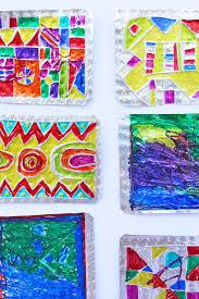 folk art project for kids hojalata tin art babble dabble do