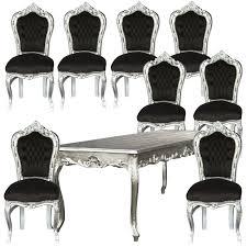 stühle esszimmer günstig esstisch set barockstühle esszimmer schwarz silber angebot tisch 8