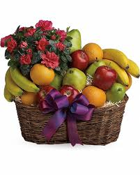 send fruit fruits and blooms basket send flowers to calgary