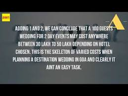 how much is a destination wedding how much does it cost to a wedding in goa
