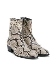 zipper boots s chelsea boot s zipper toe snake print leather ankle
