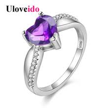 Purple Wedding Rings by Popular Purple Engagement Ring Buy Cheap Purple Engagement Ring