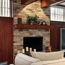 Wood Mantel Shelf Designs by Rustic Wood Mantels On Red Brick Fireplaces Decorations