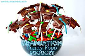 graduation cap candy pops centerpieces graduation ideas and